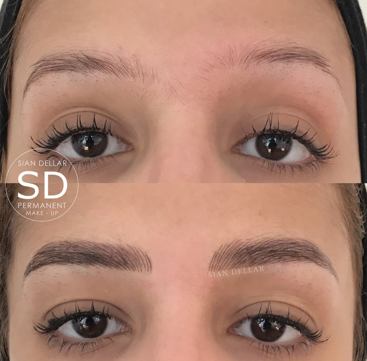 sian dellar | microblading -before & after pics