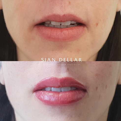 enhanced lip colour permanent makeup