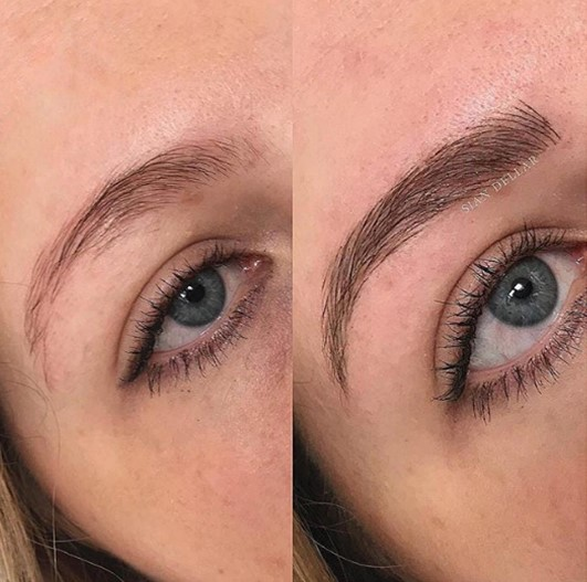good skin with semi permanent makeup